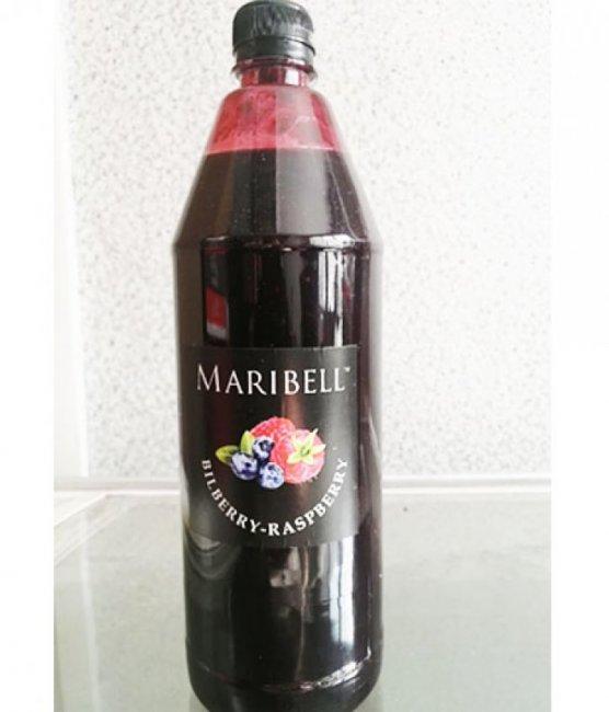 Чай концентрат Малина с Черникой ПЭТ ТМ Maribell 1,25 кг.