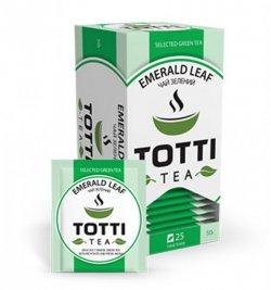 Чай зеленый пакетированный Изумрудный лист 2гр.* 25шт. ТОТТІ Tea