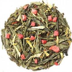Чай зеленый весовой Земляника со сливками 1 кг. Nadin