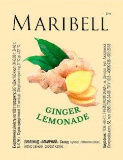 Лимонад концентрат Имбирный ТМ Maribell 50 гр.