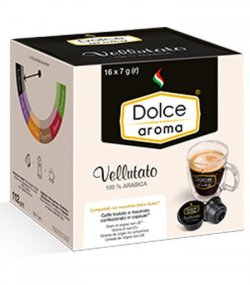 Кофе в капсулах Dolce Aroma Vellutato 16 шт.*7 гр.