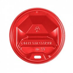 Крышка Пластиковая Красная для стаканов 69