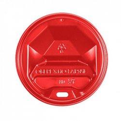 Крышка Пластиковая Красная для стаканов 80