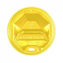 Крышка Пластиковая Желтая для стаканов 75