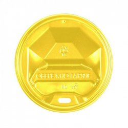 Крышка Пластиковая Желтая для стаканов 90