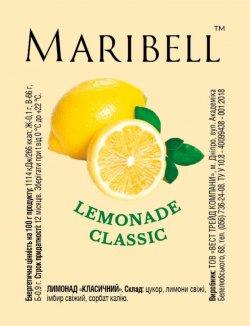 Лимонад концентрат Лимонный (классический) ТМ Maribell 50 гр.