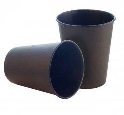 Стакан бумажный Черный 175 мл