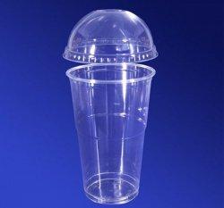 Стакан пластиковый с купольной крышкой 400 мл