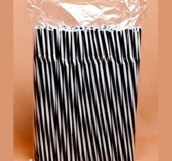 Трубочки коктейльные с изгибом в полоску Черно – Белые 23см